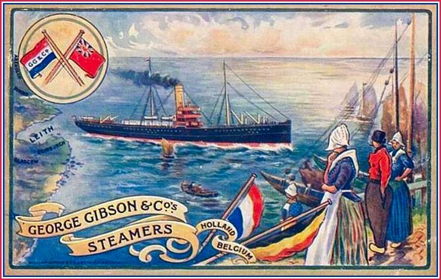Advertentie George Gibson & Co., Leith